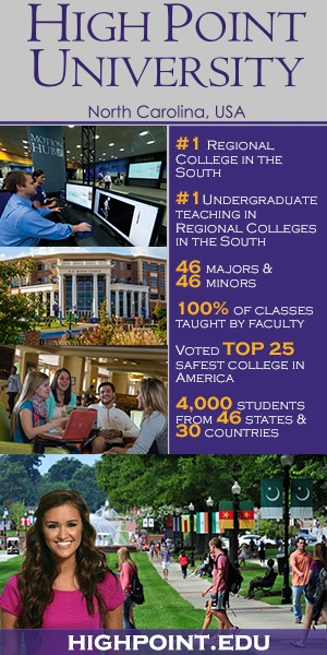 U.S. News ranked High Point University Number 1. We think you will too! http://www.highpoint.edu