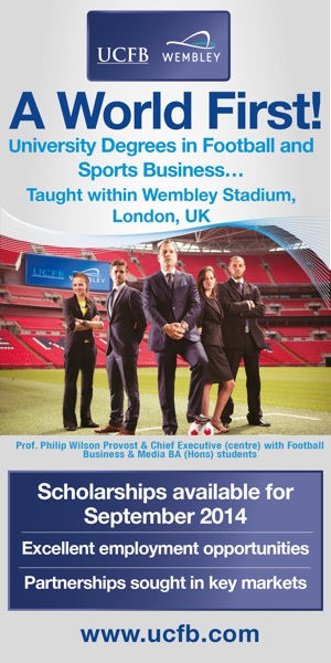 UCFB Wembley - Sports Business Degrees taught within Wembley Stadium www.ucfb.com/2014