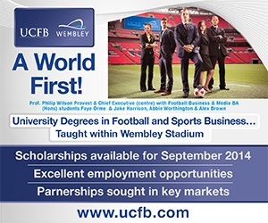UCFB University Degrees and Executive Education in the Football Business and Sports Industries www.ucfb.com