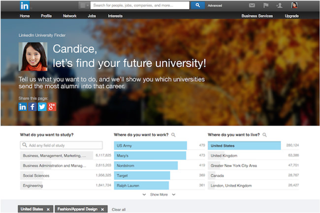 a-sample-linkedin-university-finder-screen