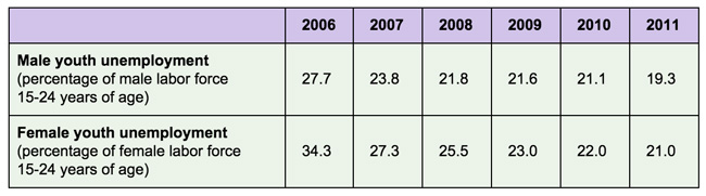 unemployment-rates-for-indonesians-aged-15-to-24-2006-to-2011
