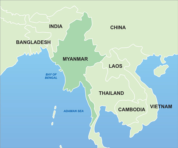 Image result for myanmar map