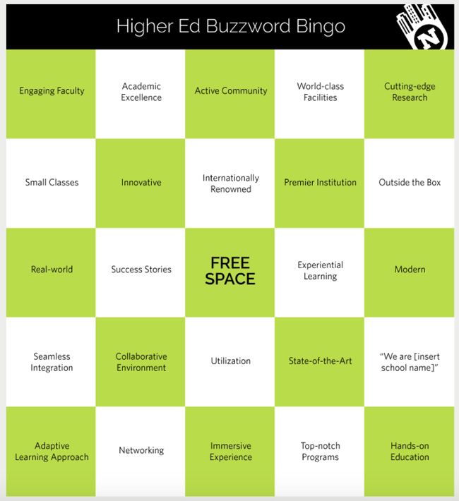 higher-ed-buzzword-bingo-card
