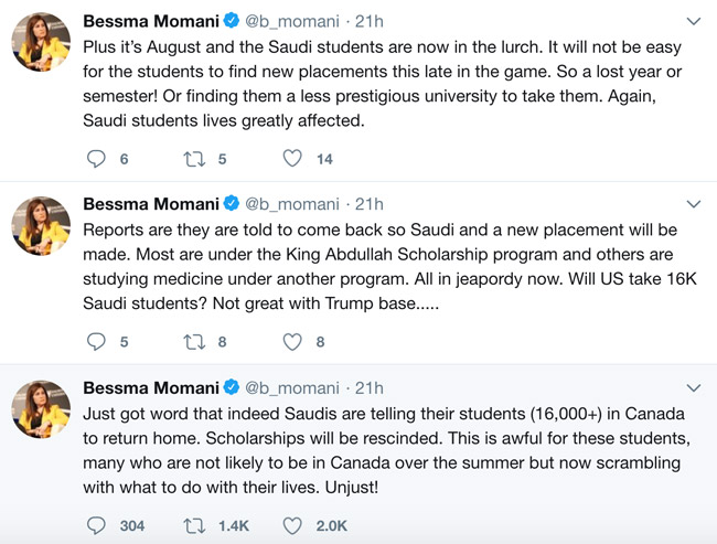 Saudi Arabia Orders Its Scholarship Students Out Of Canada