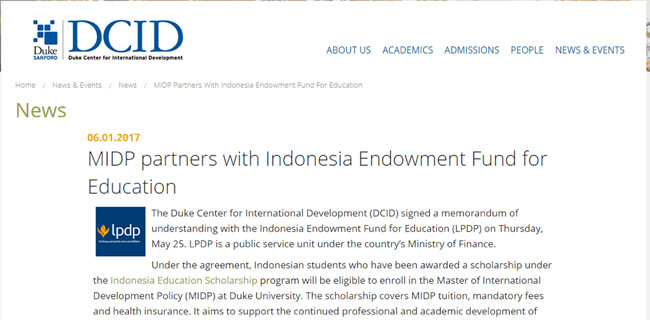 MIDP partners with Indonesia Endowment Fund for Education